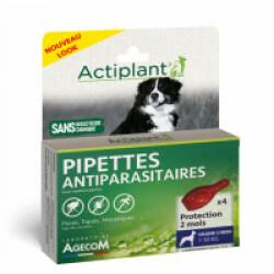 Traitement antiparasitaire pour grand chien Essential Eco Spot 4 pipettes 2 ml