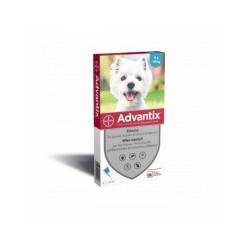 Advantix traitement anti tiques et puces pour chien Spot On Chien 4 à 10 kg (4 pipettes 1 ml)