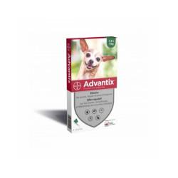 Advantix traitement anti tiques et puces pour chien Spot On Chien 1,5 à 4 kg (4 pipettes 0.4 ml)