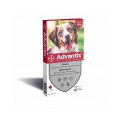 Advantix traitement anti tiques et puces pour chien Spot On Chien 10 à 25 kg (4 pipettes 2.5 ml)