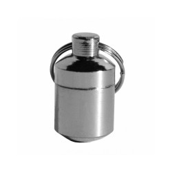 Tube porte adresse en laiton gris 2 cm Chapuis Sellerie