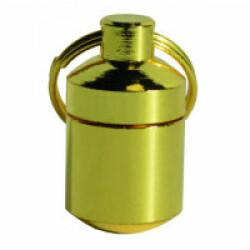 Tube porte adresse en laiton doré 2 cm Chapuis Sellerie