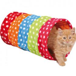 Tunnel Crunch en tissu polaire pour chat