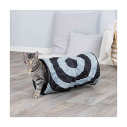 Tunnel de jeu bicolore Trixie 50 cm pour chat