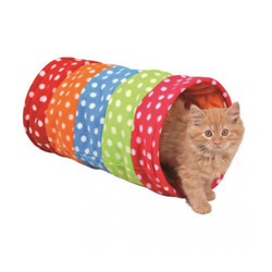 Tunnel de jeu en polaire multicolore Trixe pour chat