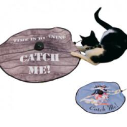 Undercover mousse jeu mobile pour chat Marron Catch-me Wood