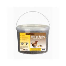 Vers de farine déshydratés pour poules et poussins Seau 130 g
