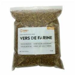 Vers de farine déshydratés pour poules et oiseaux Invers - 1 kg