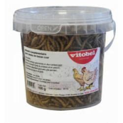Vers de farine séchés pour poules Vitobel Seau de 100 g